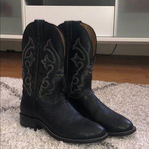 Leather tony lama boots